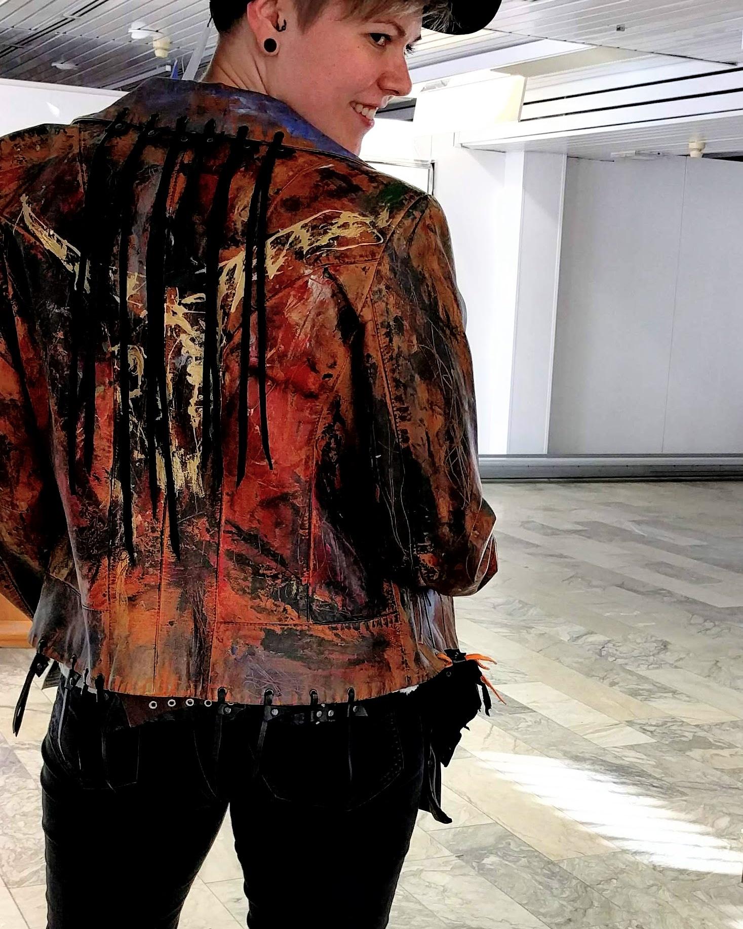 Maalattu takki